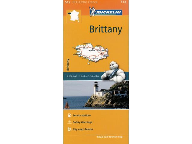 ArtTravel Kraków: Brittany mapa 1:200T Michelin