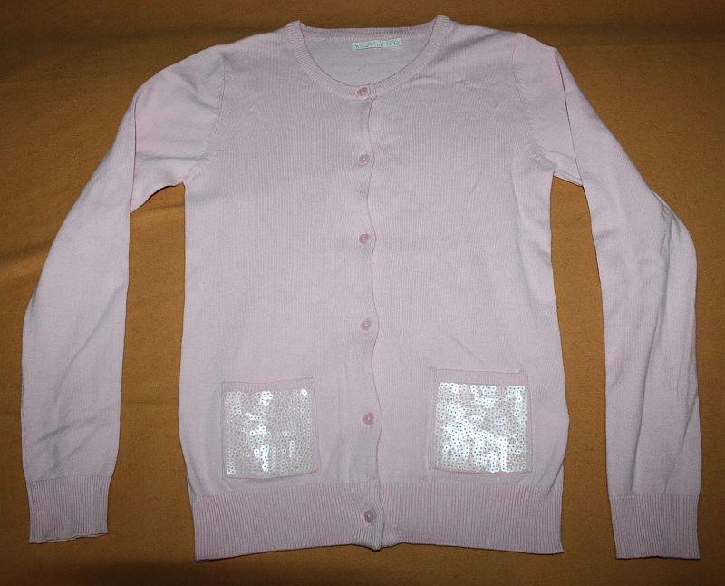 Sweter sweterek jasny róż + cekiny COOL CLUB 152