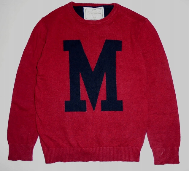 ZARA cienki sweterek z literą M roz.116