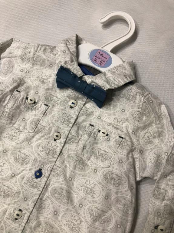 M&S body koszula muszka Wielkanoc 3-6M 68