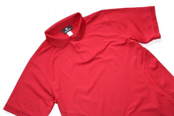 SP582*ARTENGO* Czerwony t-shirt polo SPORT M