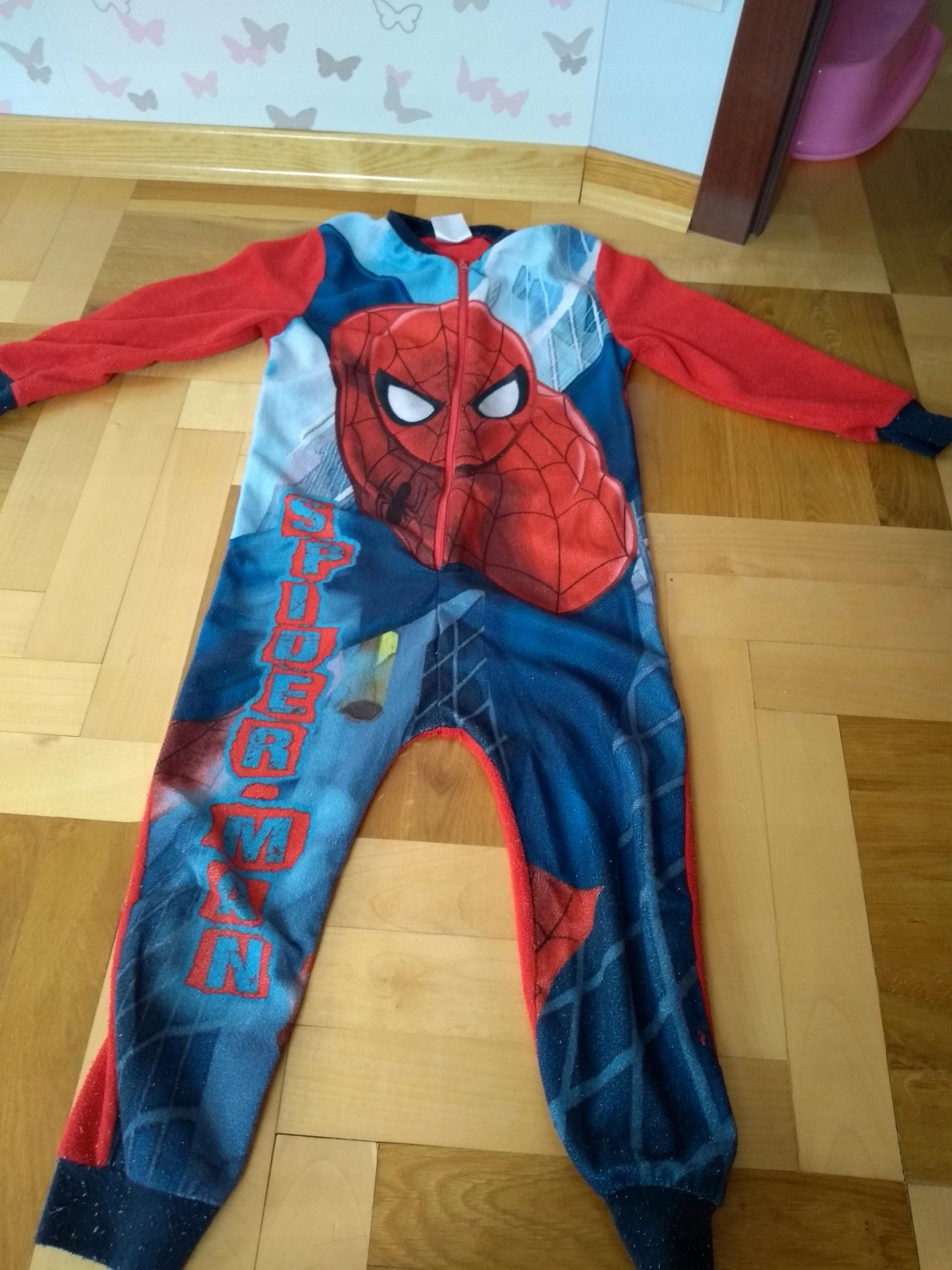 3364a2fe4cc4b8 Pajac polarowy spiderman 6lat 116cm piżama party - 7579631562 ...