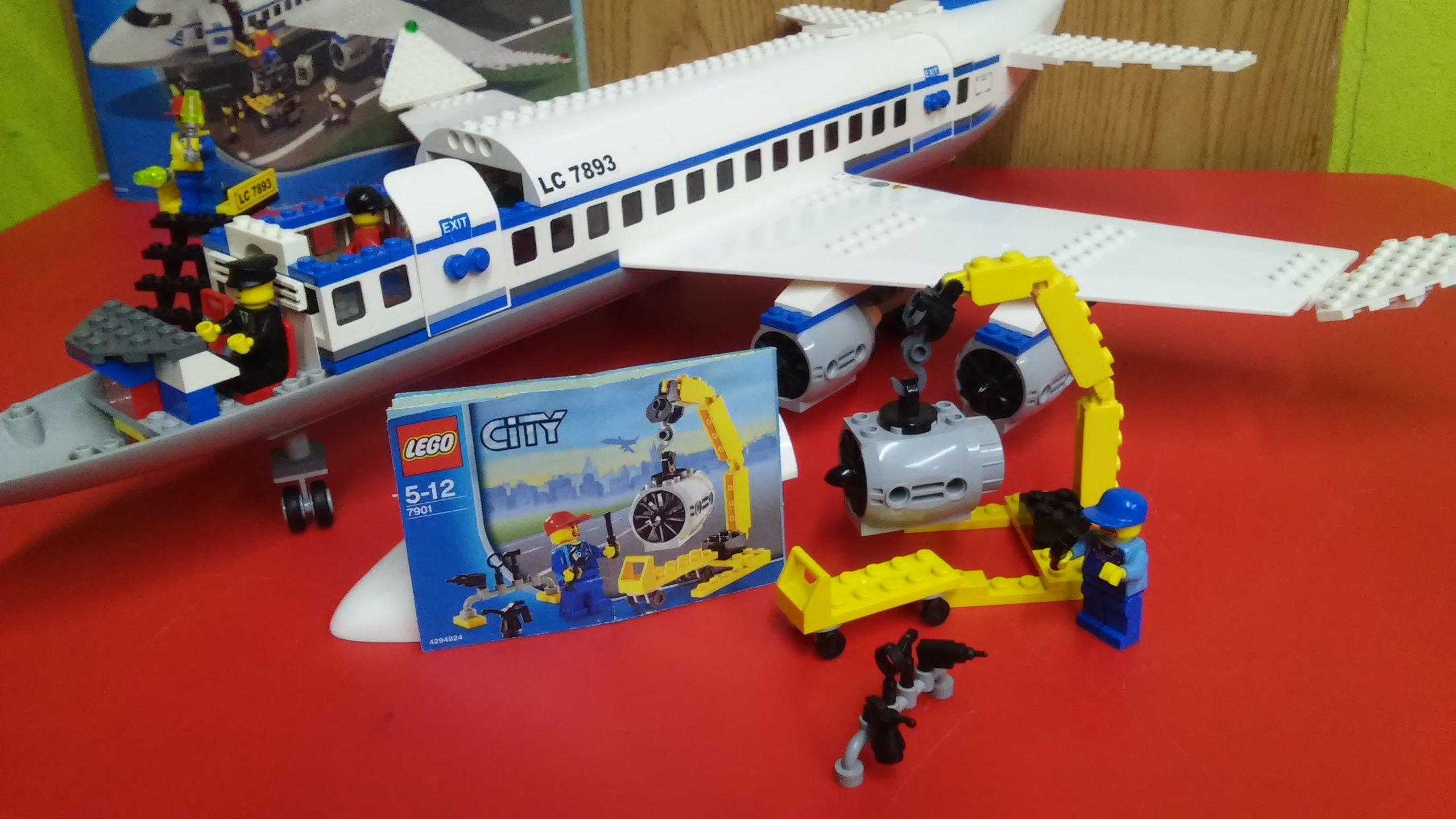 Lego City 7893 Duży Samolot Pasażerski 7901 7130915849