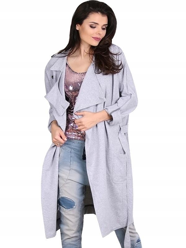 Płaszcz PLEASE szary Model K226FH8000 - (S)