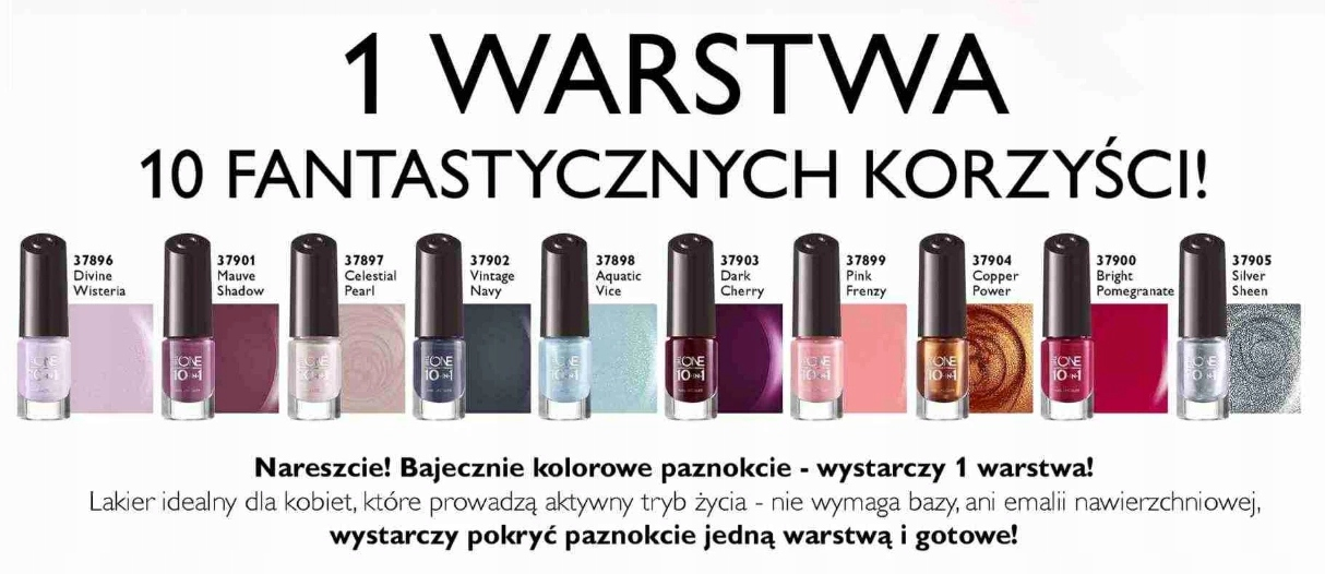 ORIFLAME LAKIER DO PAZNOKCI THE ONE 10w1-PINK FREN