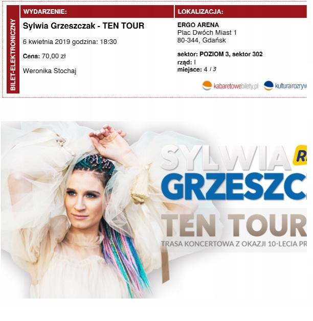 Sylwia Grzeszczak Gdańsk Ergo arena 06.04 koncert