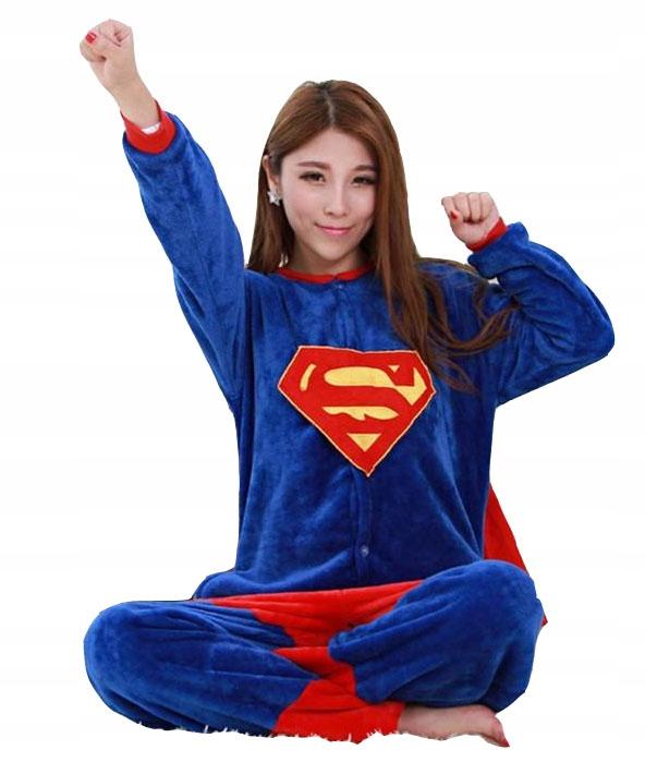 PIŻAMA KOMBINEZON KIGURUMI SUPER MAN ONESIE r S 36