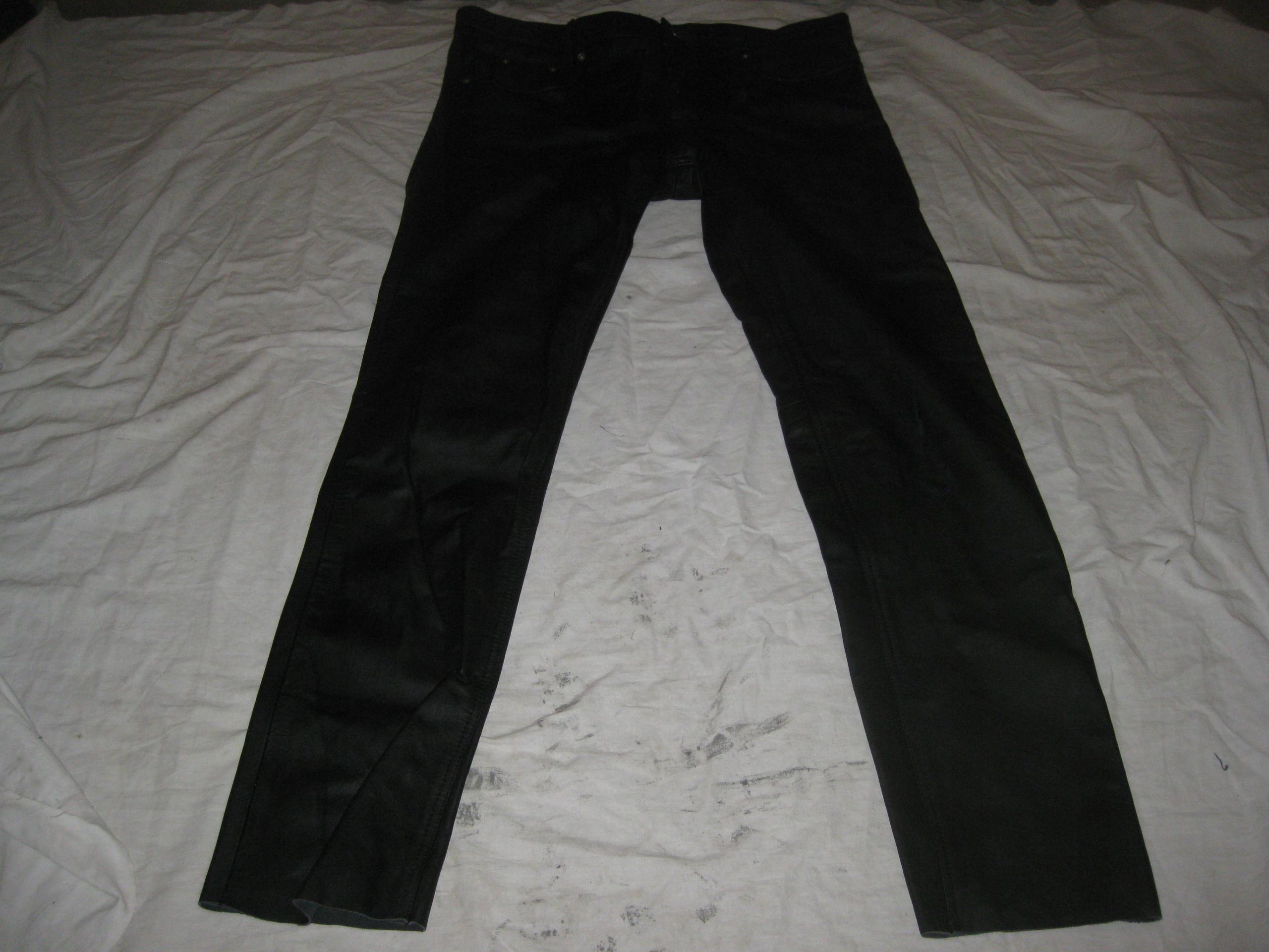 spodnie na motor TSCHUL 185-190/100-104 gruba skór