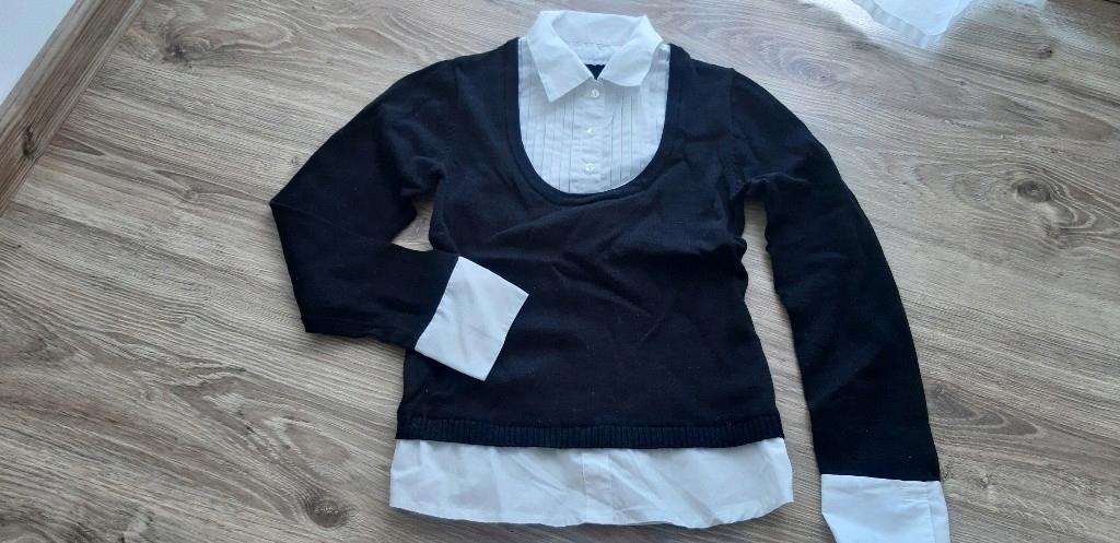 sweterek z koszulą 2w1 9-10 lat 140