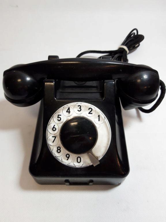 TELEFON RETRO CZARNY