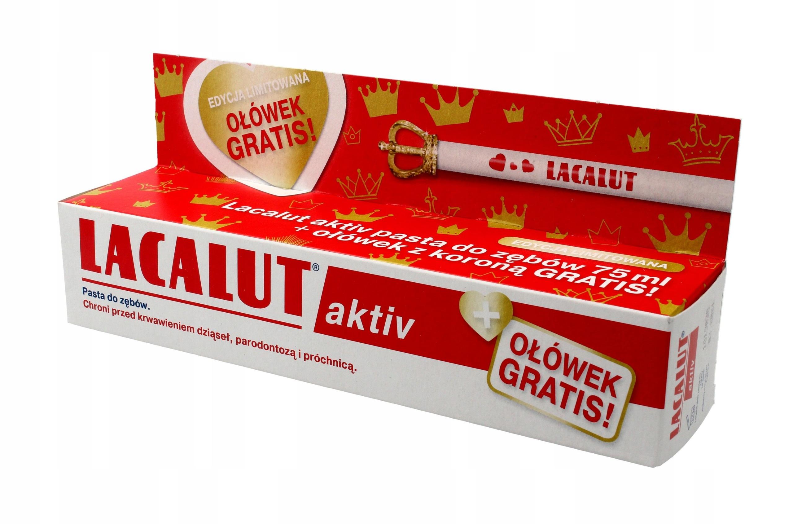 Lacalut Pasta do zębów Activ paradontoza 75ml + oł