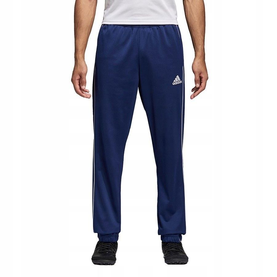 Adidas spodnie dresowe poliestrowe dresy męskie Core 18 PES CE9050 CV3585