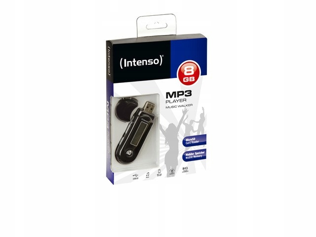 INTENSO Odtwarzacz MP3 8GB MUSIC WALKER LCD