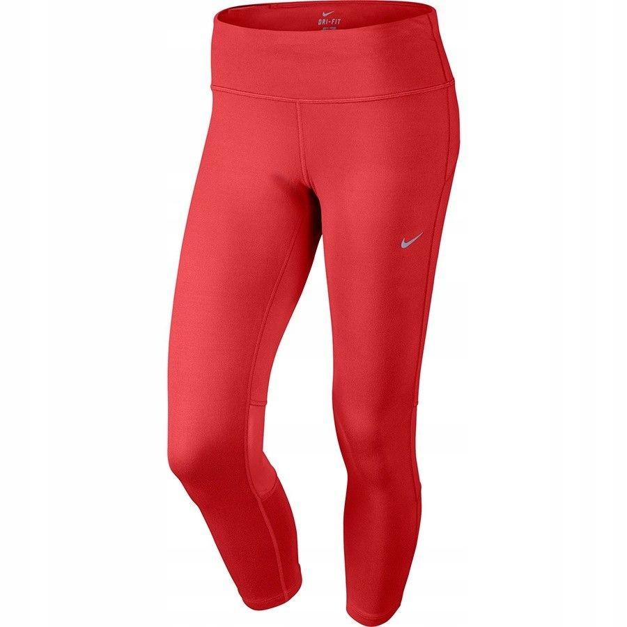 Legginsy Nike DF Epic Run Crop 646229 696 - CZERWO
