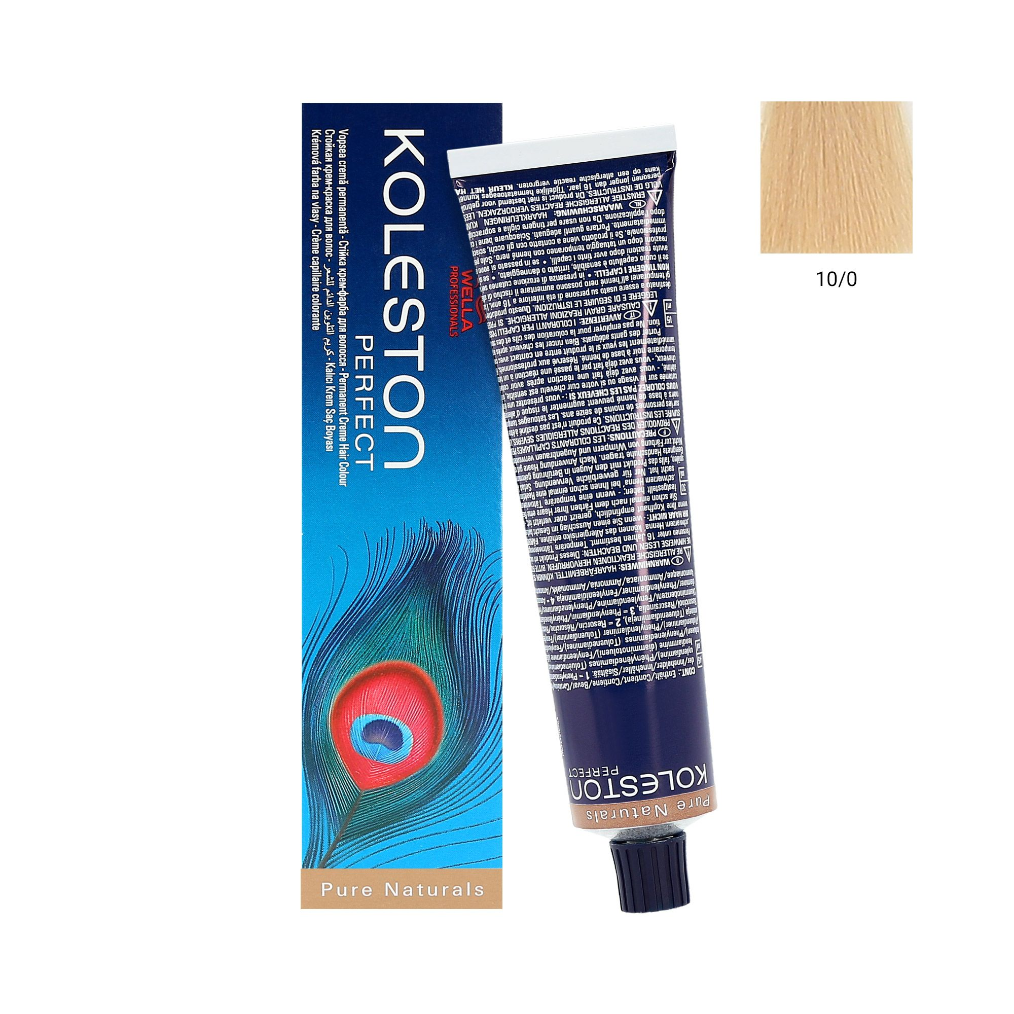 WELLA KOLESTON PERFECT FARBA 10/0 PURE NATURALS