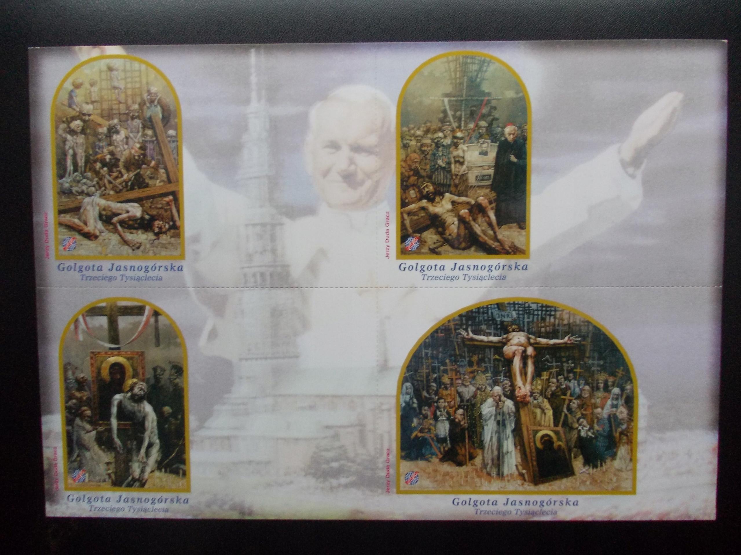 Arkusz kart z serii Golgota Jasnogórska Duda-Gracz
