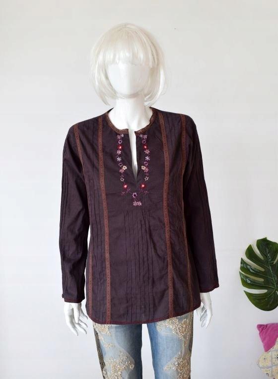 Zara haftowana bluzka boho meksykańska etno