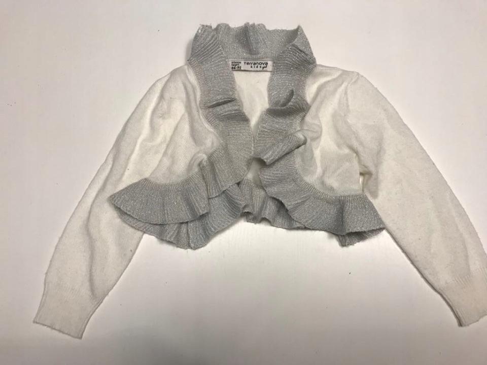 Terranova sweter bolerko srebrna nitka r 86-92
