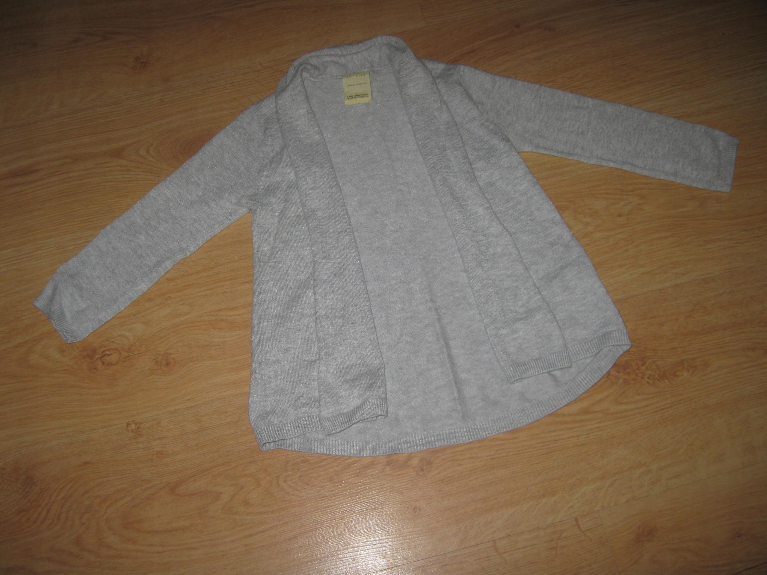 ZARA sweterek narzutka 110 cm jak nowy