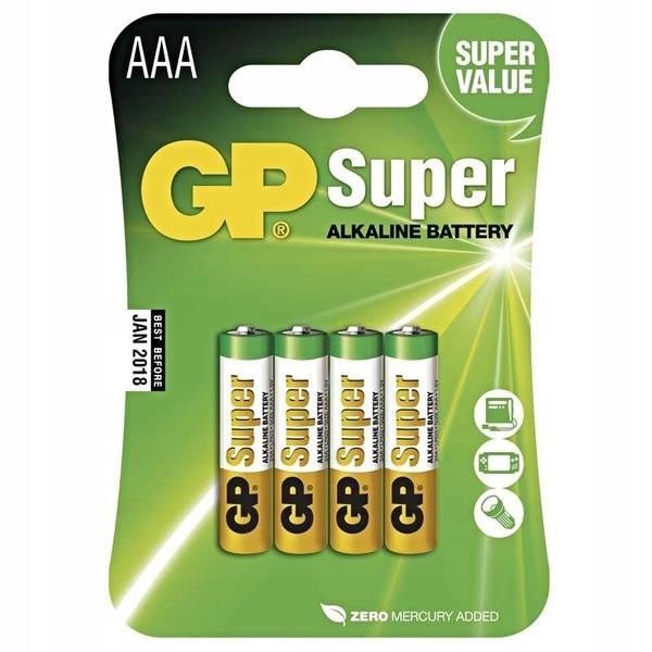 Bateria alkaliczna, AAA, 1.5V, GP, blistr, 4 pack,