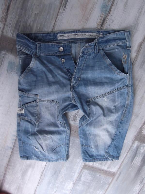 JACK JONES___spodenki bermudy MĘSKIE jeans__40 L