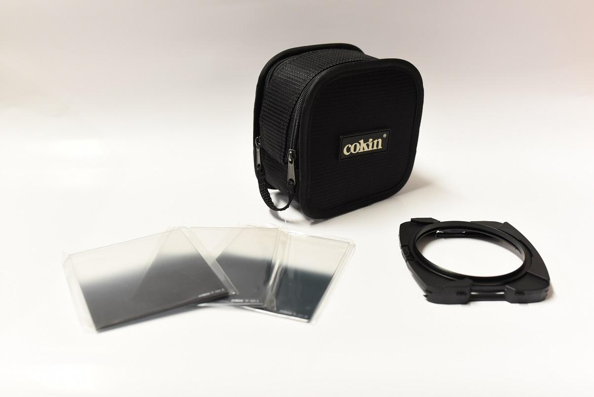 zestaw filtrów połówkowych cokin + etui+holder77