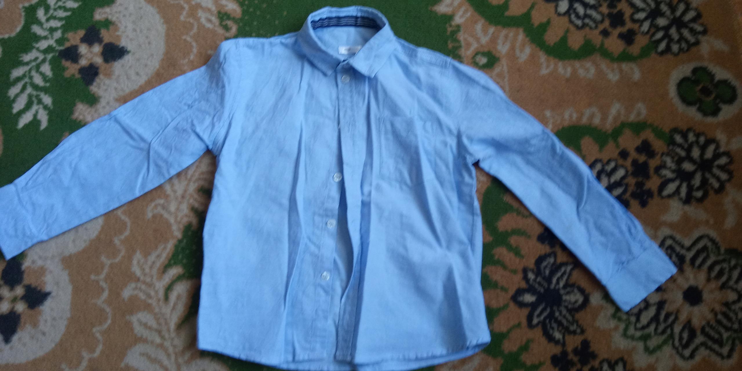 Koszula niebieska r. 122 chłopak 6 lat