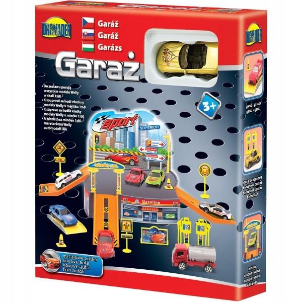 DROMADER Garaż mały z 1 autkiem