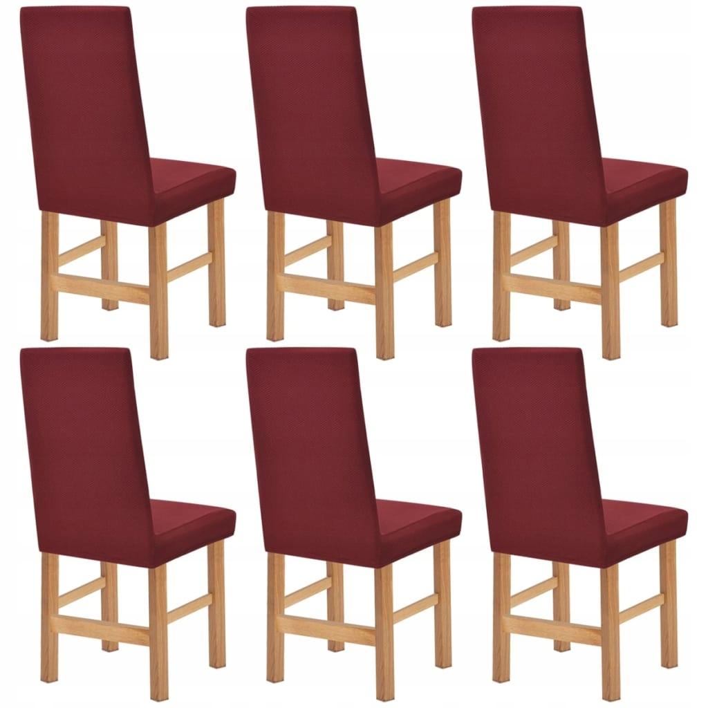 131955 vidaXL Elastyczne pokrowce na krzesła 6szt.