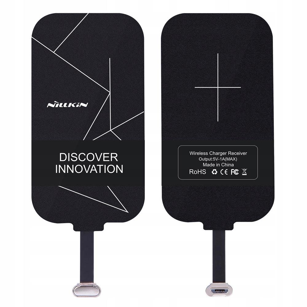 Nillkin QI wkładka indukcyjna z micro USB czarny