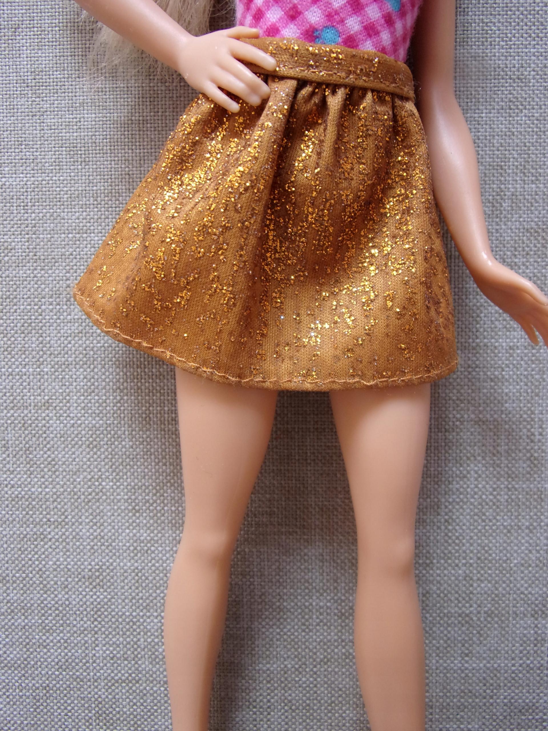 Złota spodniczka Fashionistas lalki Barbie