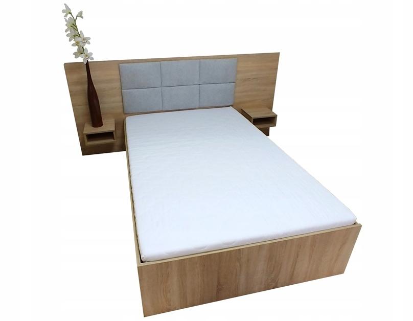 łóżko Z Podnoszonym Stelażem 120x200 Półki Materac