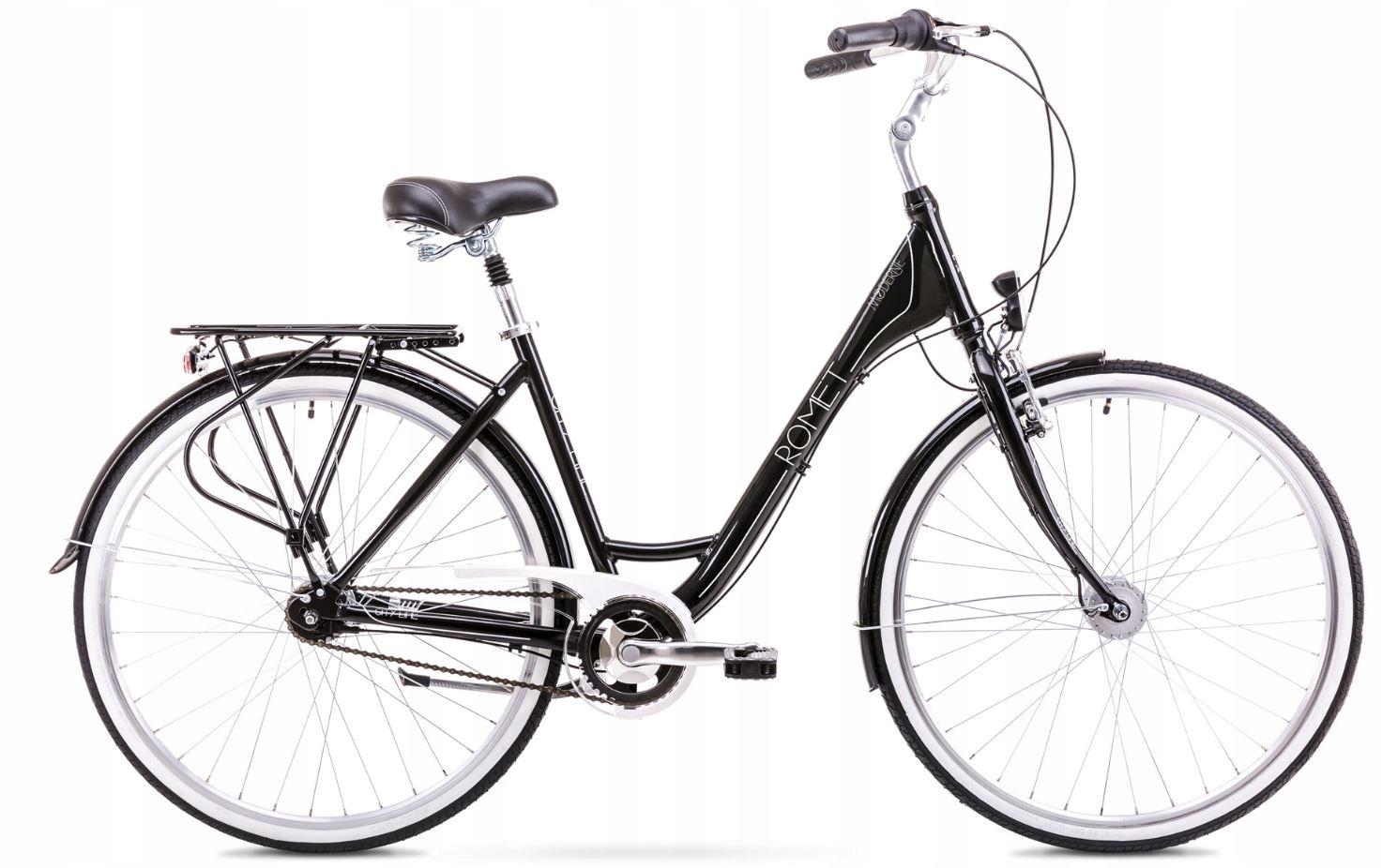 Rowery do miasta Romet Moderne 7 Czarny 17''