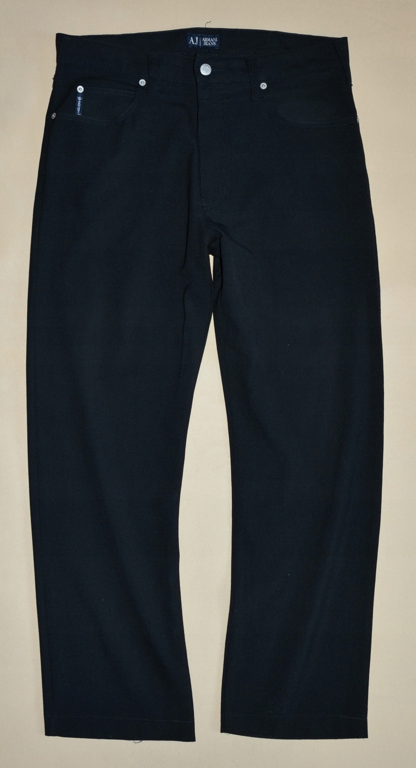 ARMANI męskie czarne spodnie Comfort Fit rozmiar L
