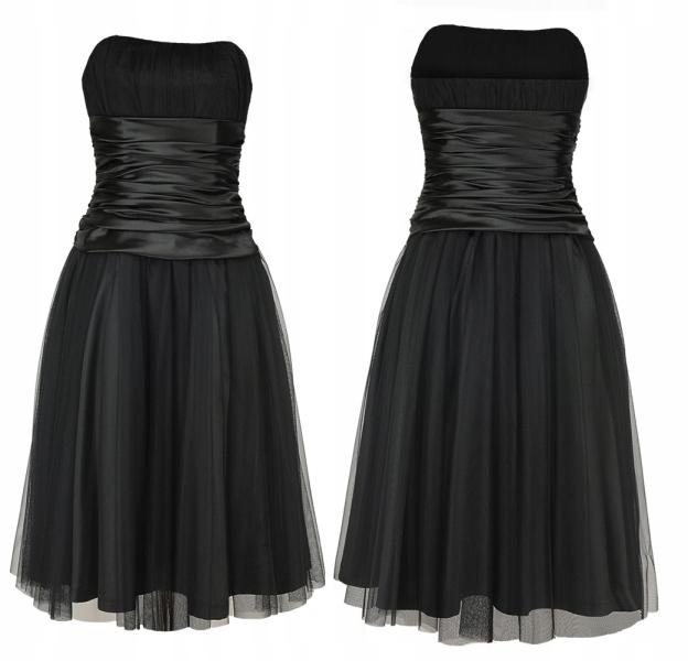 Camill 191 tiulowa suknia z szerokim paskiem 48 7067719983