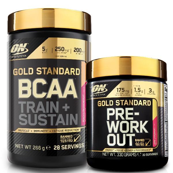 ON Gold Standard BCAA 266g + PreWorkout - 330g
