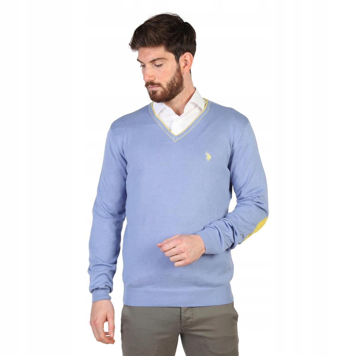 U.S. Polo ASSN niebieski sweter męski roz S