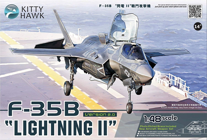 Kitty Hawk 1:48 F-35 B Lightning II +3 zest. żywic