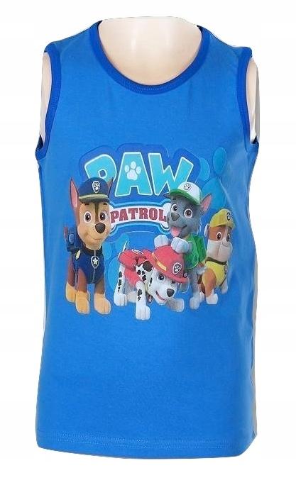 Koszulka Bezrękawnik Top Psi Patrol 98 niebieska