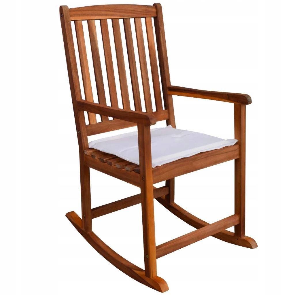 Fotel Bujany Ogrodowy Drewniany Brązowy Krzesło 7494274763