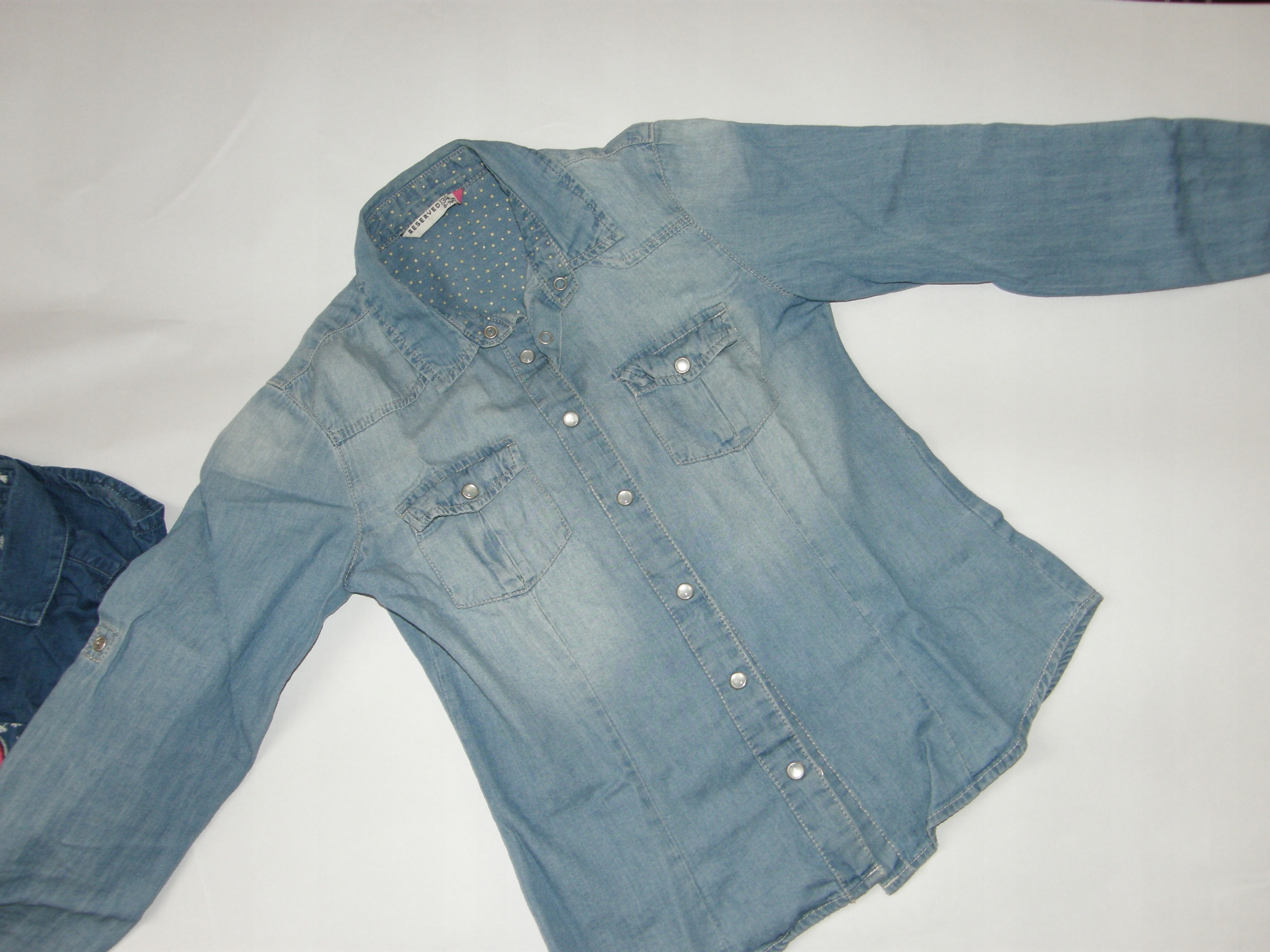 koszule jeansowe reserved + CoolClub r.134/140