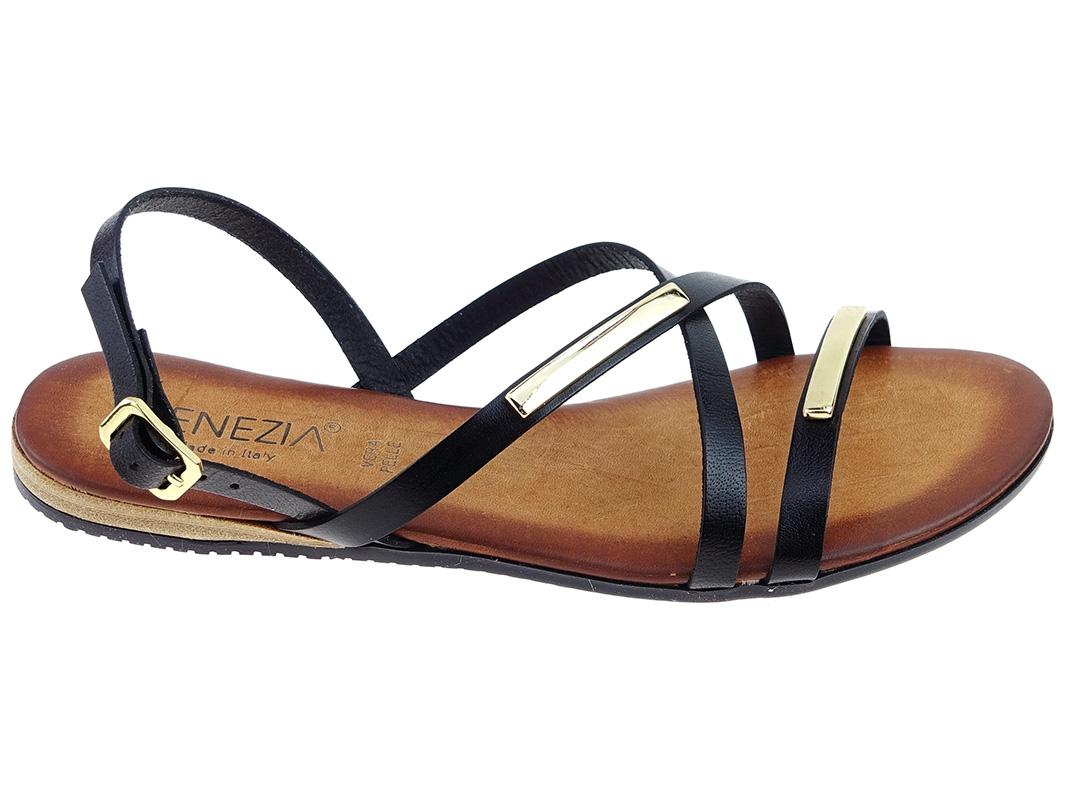 -21% Venezia buty sandały M139D czarne, skóra 36