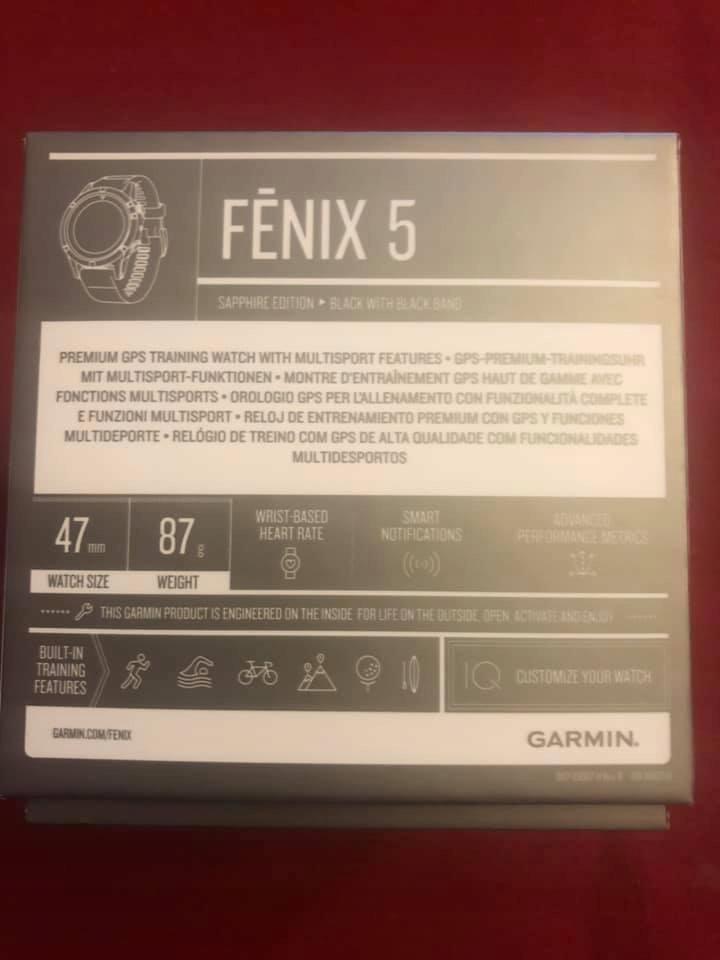 Garmin Fenix 5 Sapphire Edition