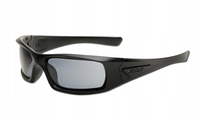 ESS - 5B - Black Frame Polarized Mirrored Gray Len