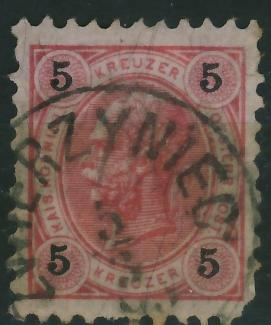 Zwierzyniec 1896 - stempel na zn.austryjackim