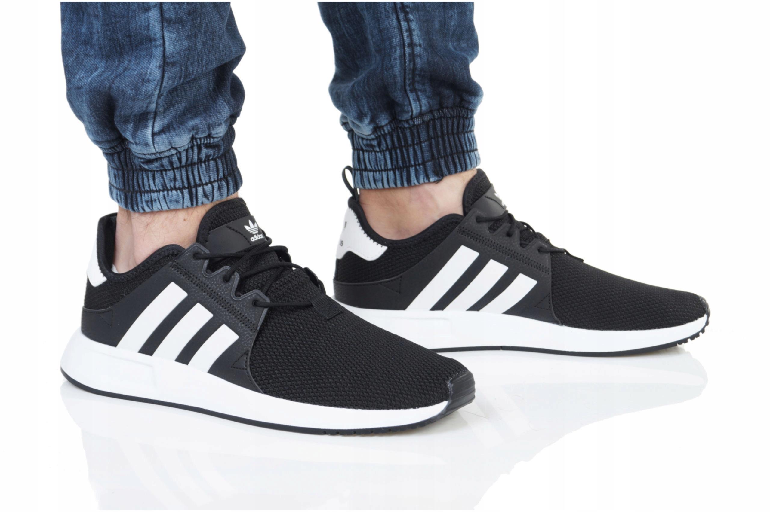 Czarne Kolorowe Tekstylne Buty Adidas rozmiar 43,5