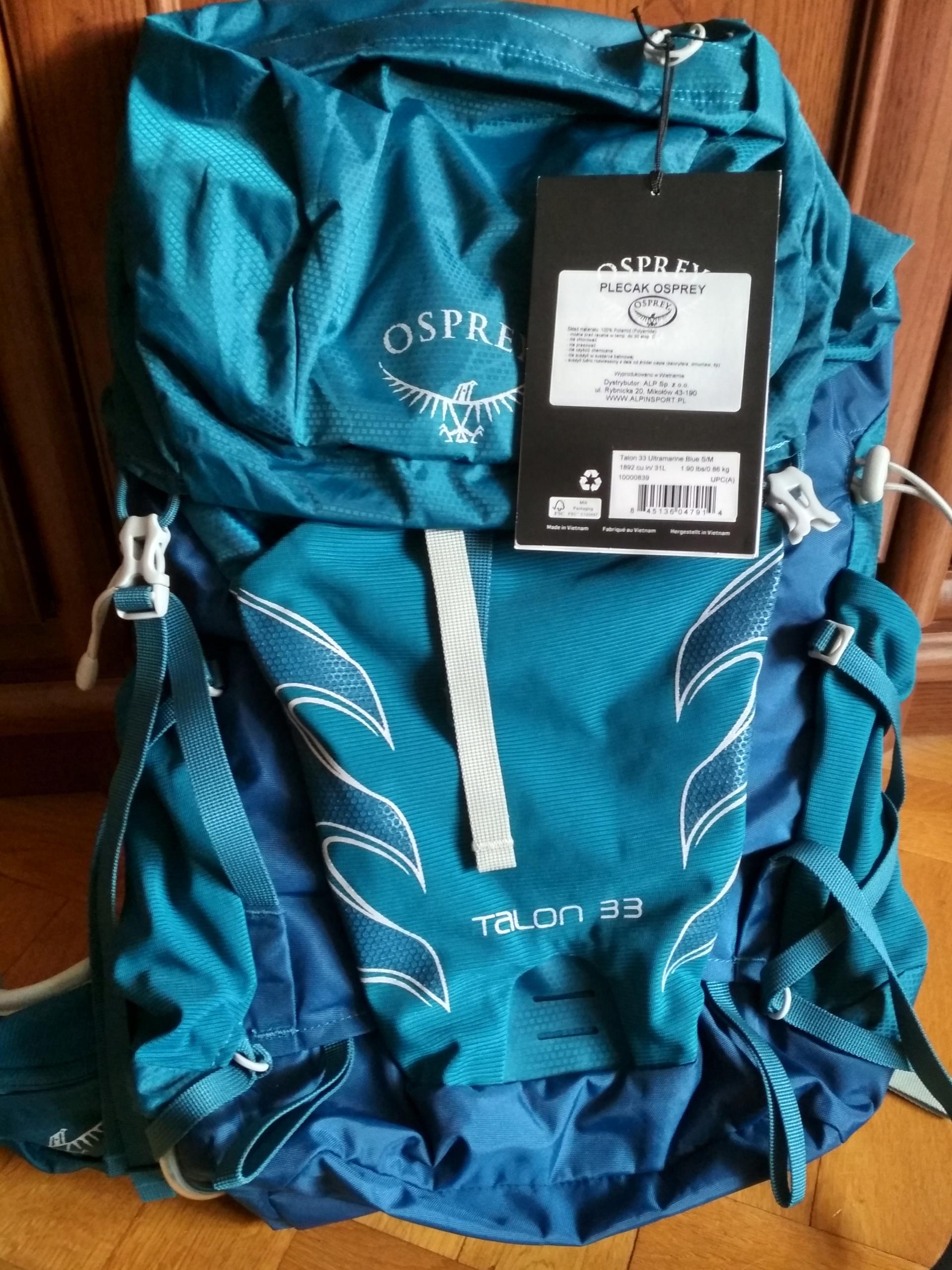 plecak OSPREY Talon 33 S/M