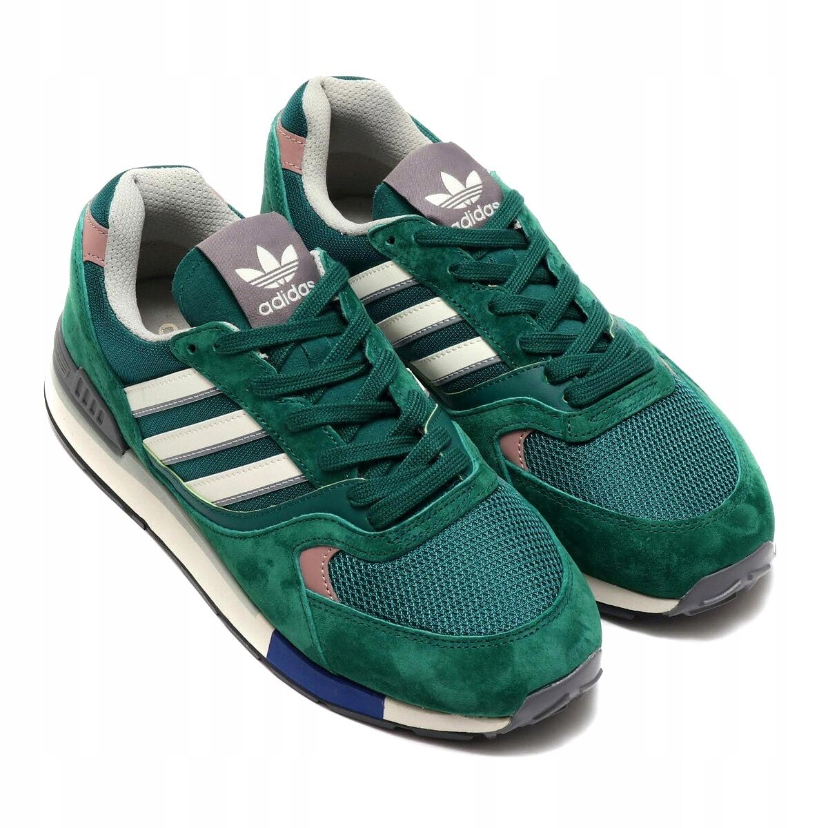6231192fb0456 Buty Adidas Quesence Originals Zielone Sneakers 45 - 7584340454 ...