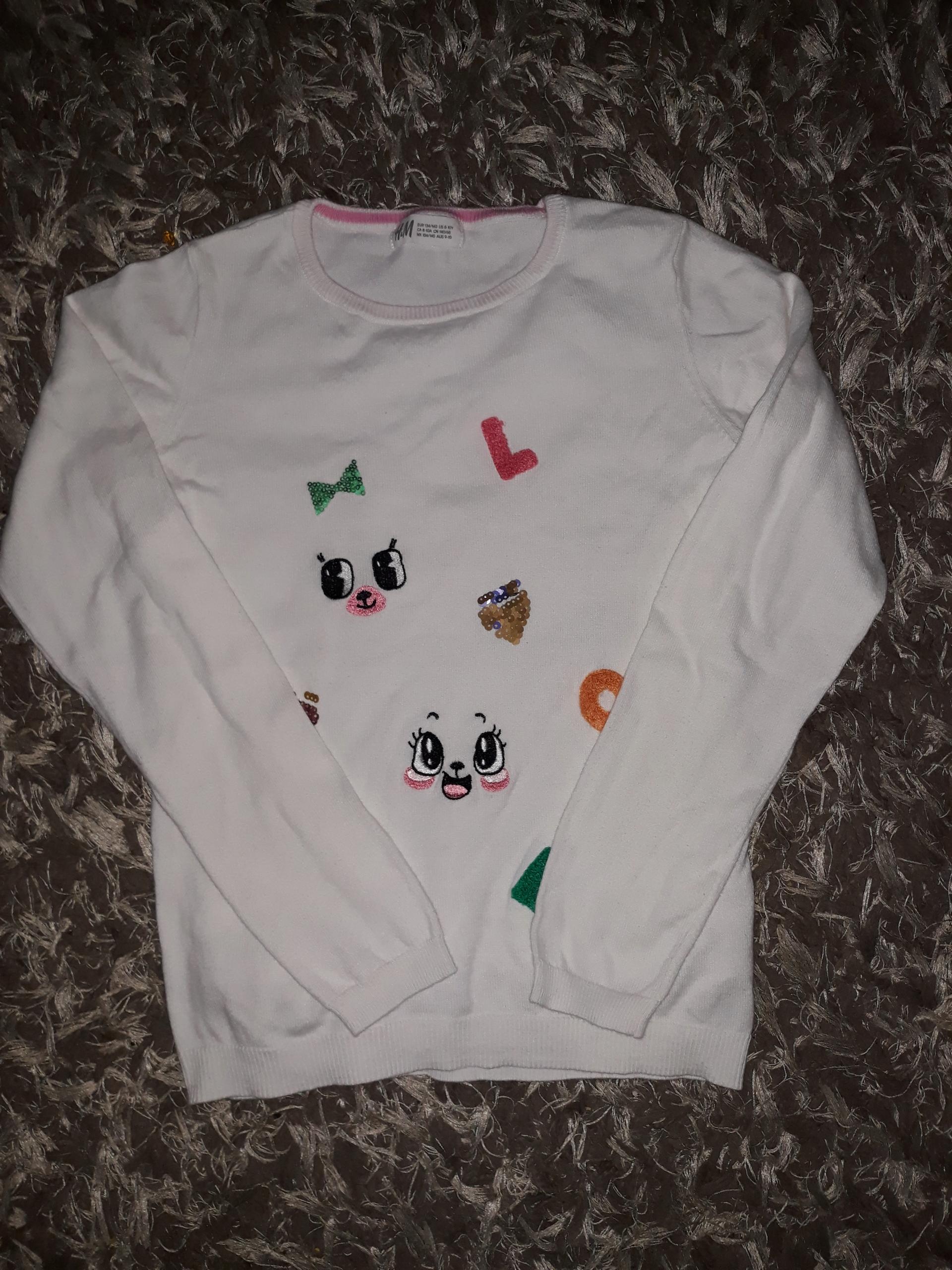 H&M sweterek 134/140