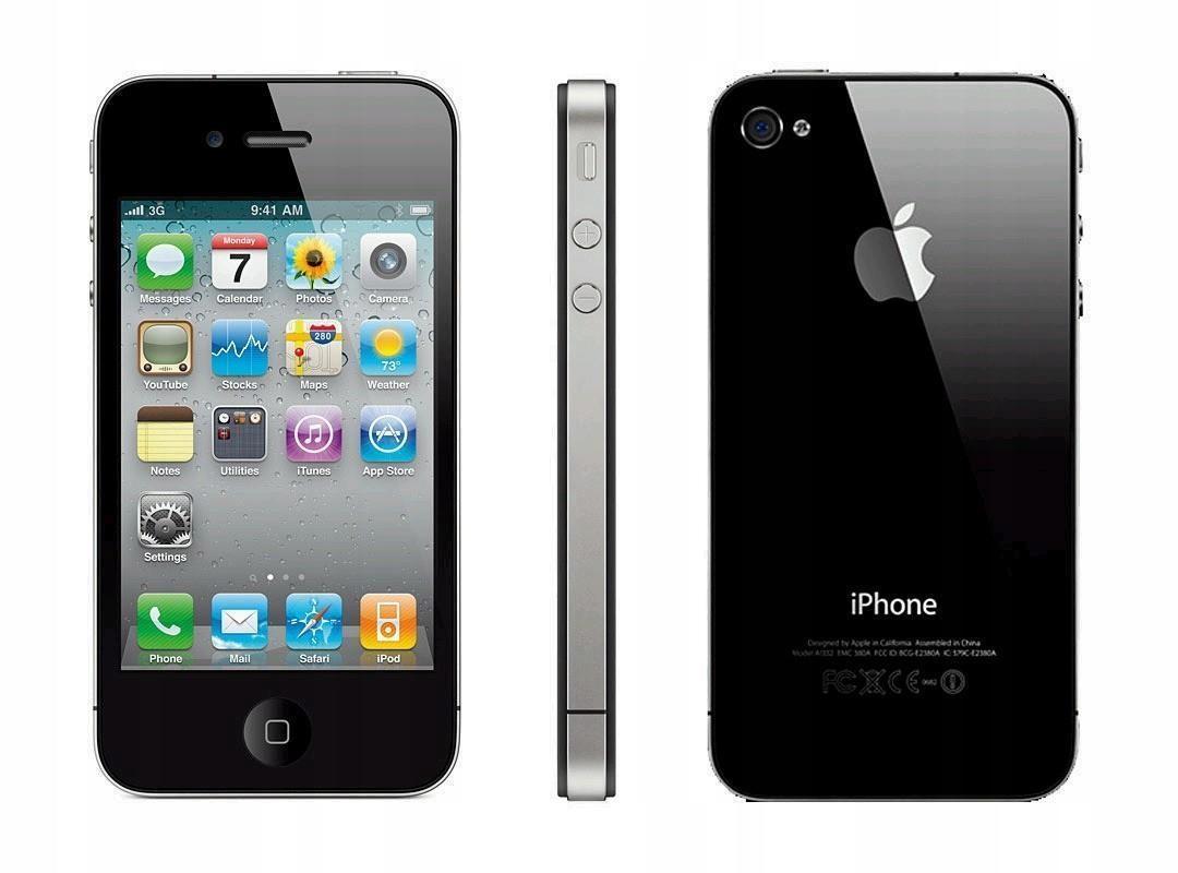 APPLE IPHONE 4 8GB CZARNY z etui i akcesoriami